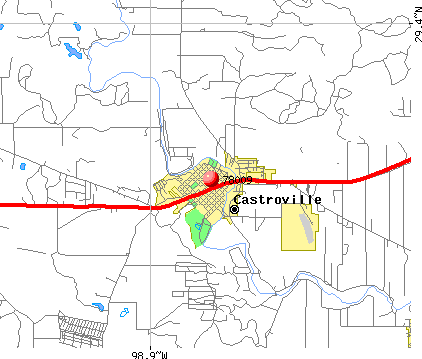 Castroville, TX (78009) map