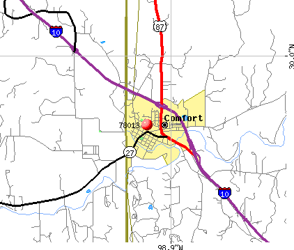 Comfort, TX (78013) map