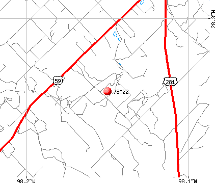 George West, TX (78022) map