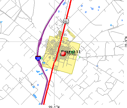 Pearsall, TX (78061) map