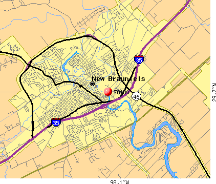 New Braunfels, TX (78130) map