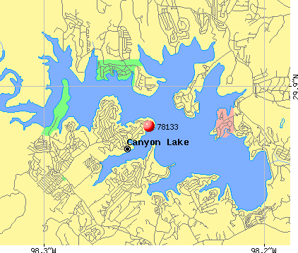 Canyon Lake, TX (78133) map