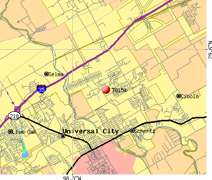 Schertz, TX (78154) map