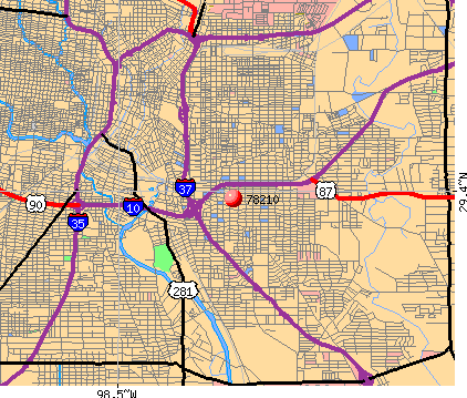 San Antonio, TX (78210) map