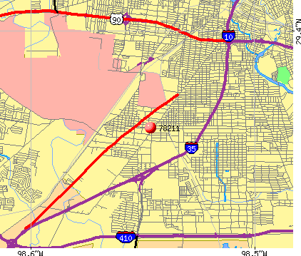 San Antonio, TX (78211) map