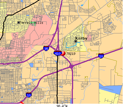 San Antonio, TX (78219) map