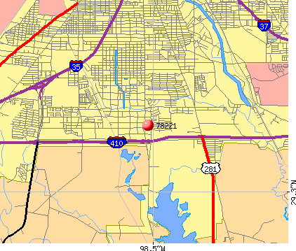 San Antonio, TX (78221) map