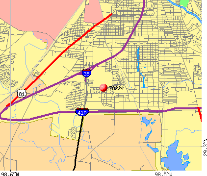 San Antonio, TX (78224) map