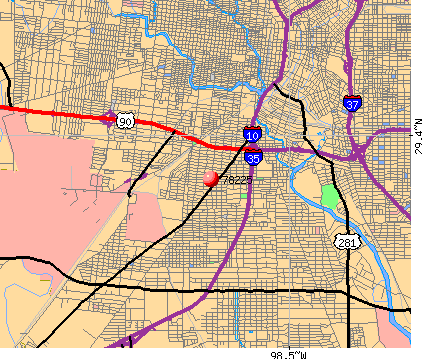 San Antonio, TX (78225) map