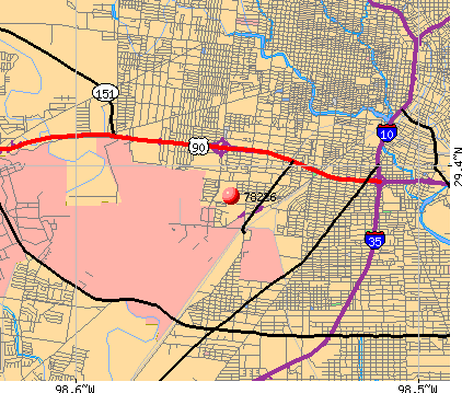 San Antonio, TX (78226) map