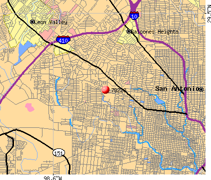 San Antonio, TX (78228) map
