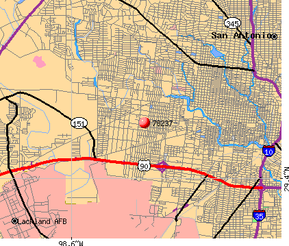San Antonio, TX (78237) map