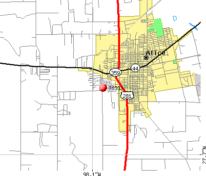 Alice, TX (78332) map