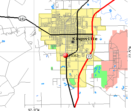 Kingsville, TX (78363) map