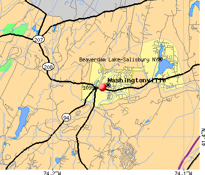 Washingtonville, NY (10992) map
