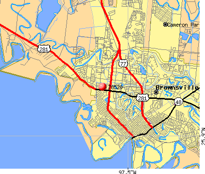 Brownsville, TX (78520) map