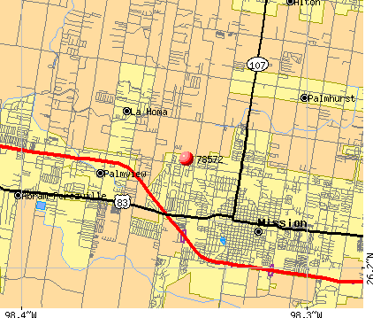 Mission, TX (78572) map