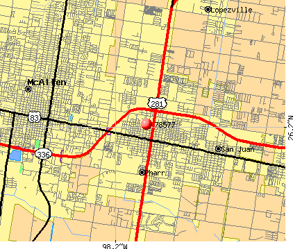 Pharr, TX (78577) map