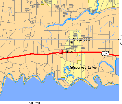 Progreso, TX (78579) map