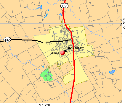 Lockhart, TX (78644) map