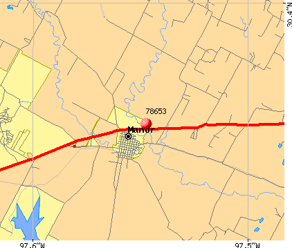 Manor, TX (78653) map