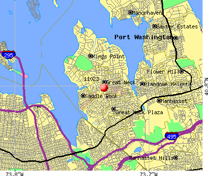 Great Neck, NY (11023) map