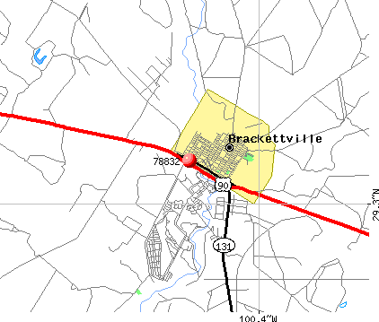 Brackettville, TX (78832) map