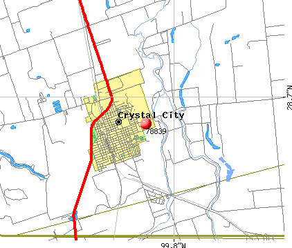 Crystal City, TX (78839) map