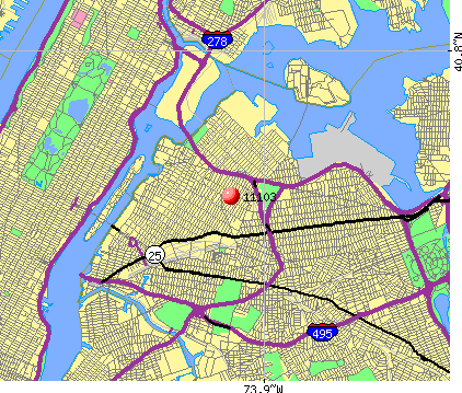 New York, NY (11103) map