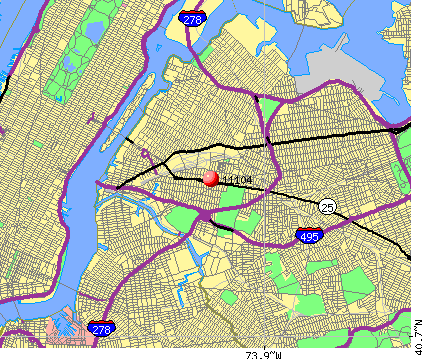 New York, NY (11104) map