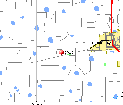 Dimmitt, TX (79027) map