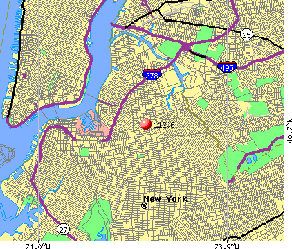 New York, NY (11206) map
