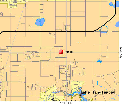 Amarillo, TX (79118) map