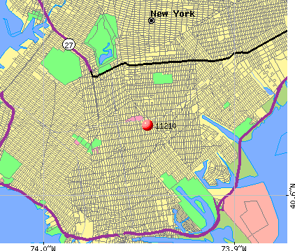 New York, NY (11210) map