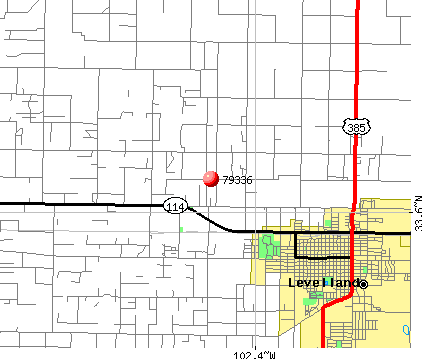 Levelland, TX (79336) map