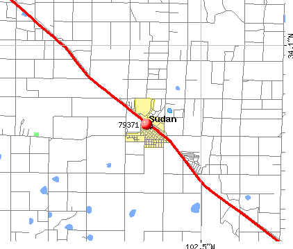 Sudan, TX (79371) map