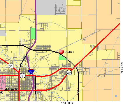 Lubbock, TX (79403) map