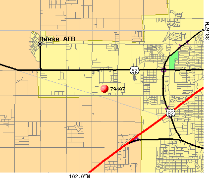 Lubbock, TX (79407) map