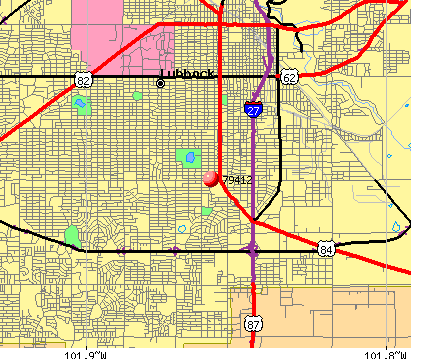 Lubbock, TX (79412) map