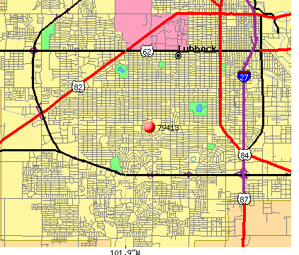 Lubbock, TX (79413) map
