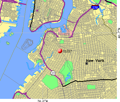 New York, NY (11217) map