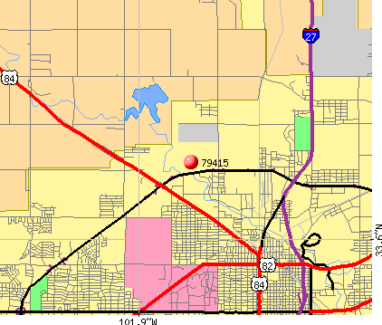 Lubbock, TX (79415) map