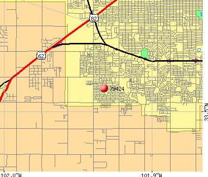Lubbock, TX (79424) map
