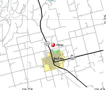 Rotan, TX (79546) map
