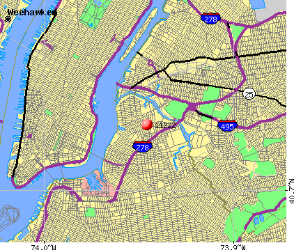 New York, NY (11222) map