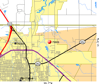 Abilene, TX (79601) map