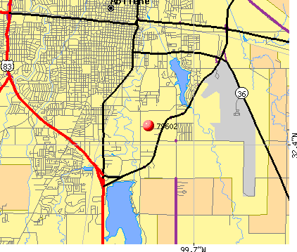 Abilene, TX (79602) map