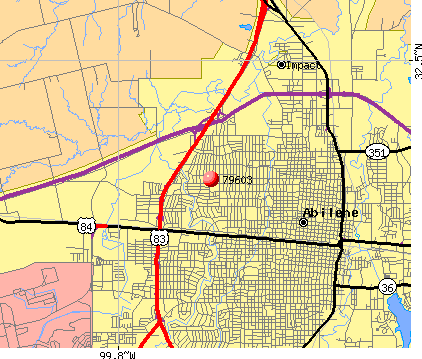 Abilene, TX (79603) map