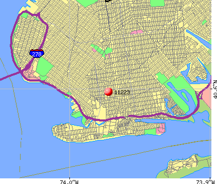 New York, NY (11223) map