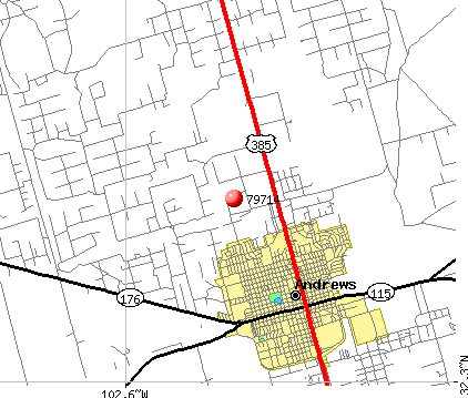 Andrews, TX (79714) map